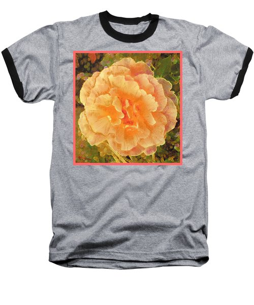 Peach Begonia Baseball T-Shirt
