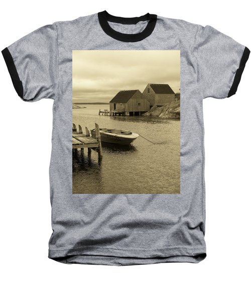 Peggys Cove In Sepia Baseball T-Shirt by Richard Bryce and Family