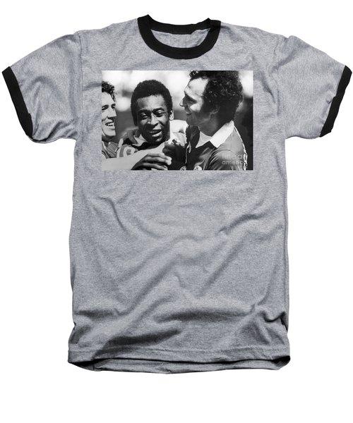 Pele & Beckenbauer, C1977 Baseball T-Shirt by Granger