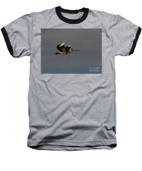 Baseball T-Shirt featuring the photograph Pelican In Flight 3 by Blair Stuart