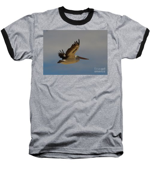 Baseball T-Shirt featuring the photograph Pelican In Flight 5 by Blair Stuart
