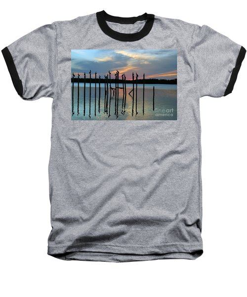 Baseball T-Shirt featuring the photograph Pelican Resting End Of Day by Dan Friend