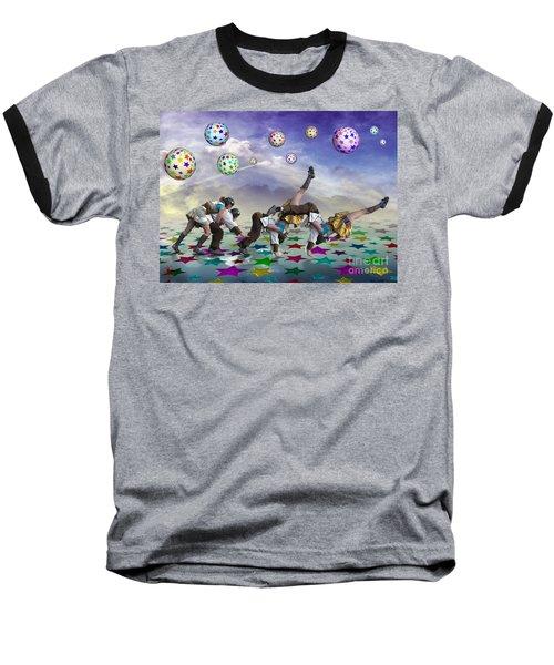 Perfect Coupling Baseball T-Shirt by Rosa Cobos