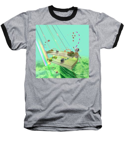 Baseball T-Shirt featuring the digital art Photosynthesis by Russell Kightley