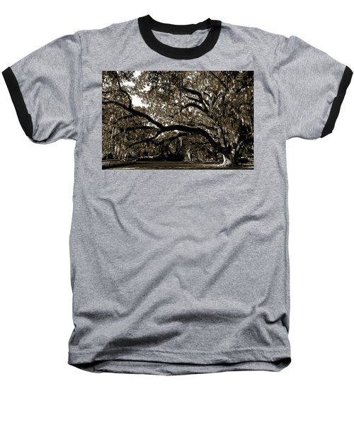 Baseball T-Shirt featuring the photograph Picnic Under The Oak by DigiArt Diaries by Vicky B Fuller