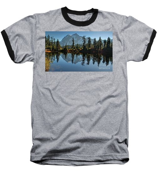 Picture Lake - Heather Meadows Landscape In Autumn Art Prints Baseball T-Shirt by Valerie Garner