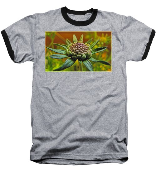 Baseball T-Shirt featuring the photograph Pinchshin Bud by Debbie Portwood