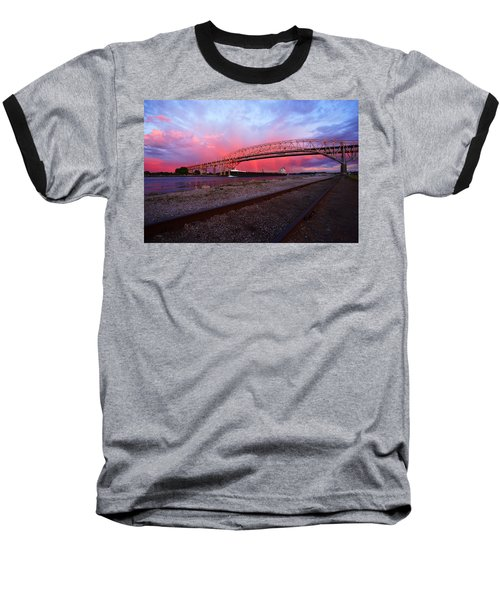 Baseball T-Shirt featuring the photograph Pink And Blue by Gordon Dean II