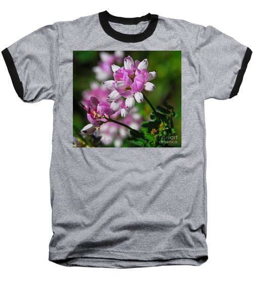 Baseball T-Shirt featuring the photograph Pink And White by Cindy Manero