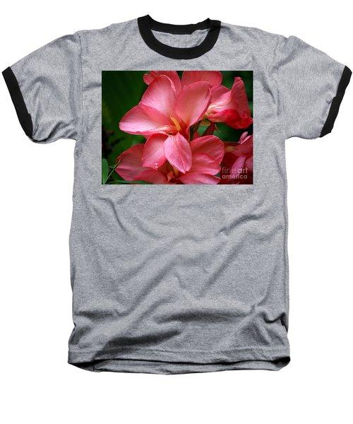 Pink Canna Baseball T-Shirt