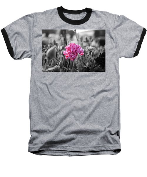 Pink Carnation Baseball T-Shirt by Sumit Mehndiratta