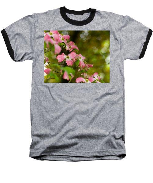 Pink Dogwood Blooms Baseball T-Shirt