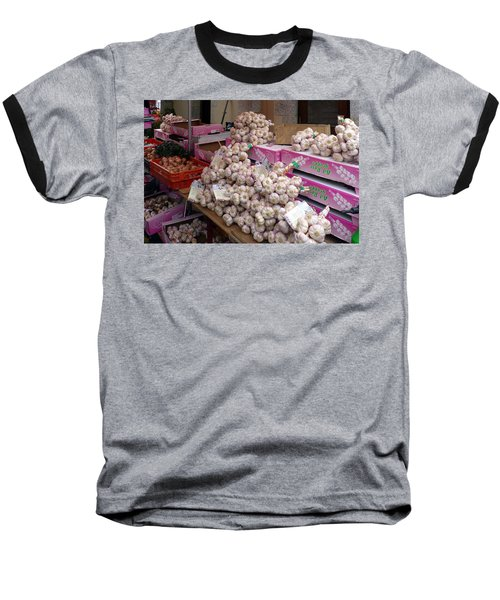 Baseball T-Shirt featuring the photograph Pink Garlic by Carla Parris