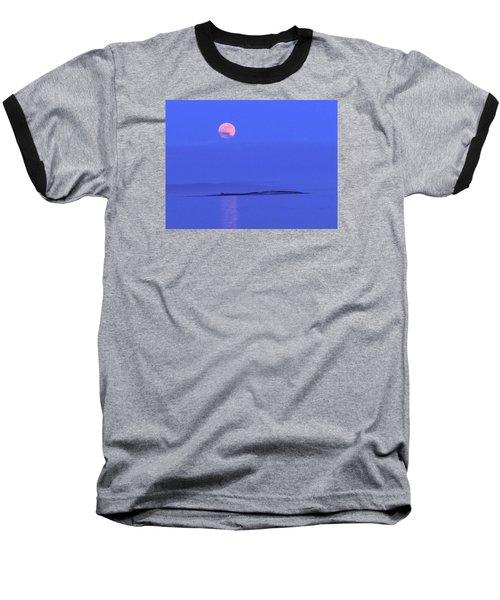Pink May Moon Baseball T-Shirt