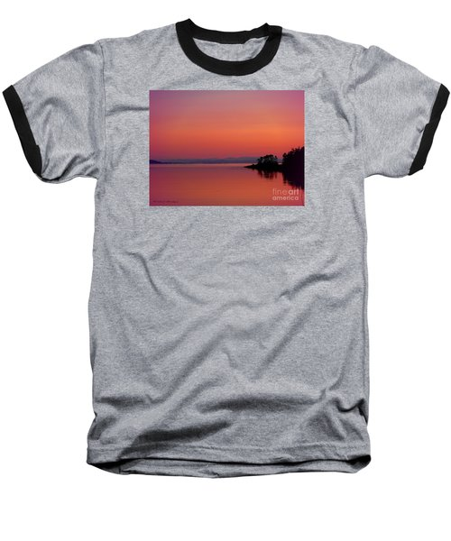 Pink Morn At Rock Point Baseball T-Shirt