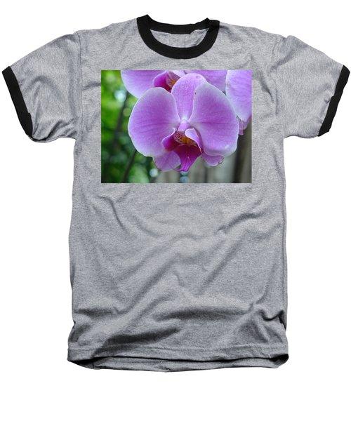 Pink Orchid Baseball T-Shirt
