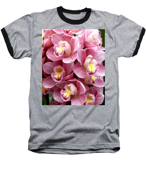 Baseball T-Shirt featuring the photograph Pink Orchids by Debbie Hart