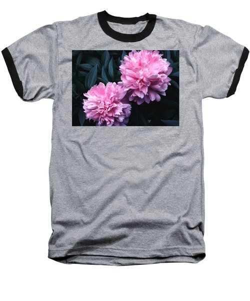 Baseball T-Shirt featuring the photograph Pink Peony Pair by Tom Wurl