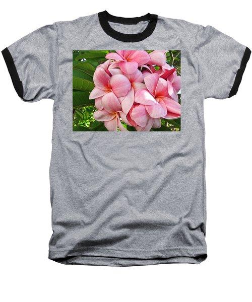 Pink Plumerias Baseball T-Shirt
