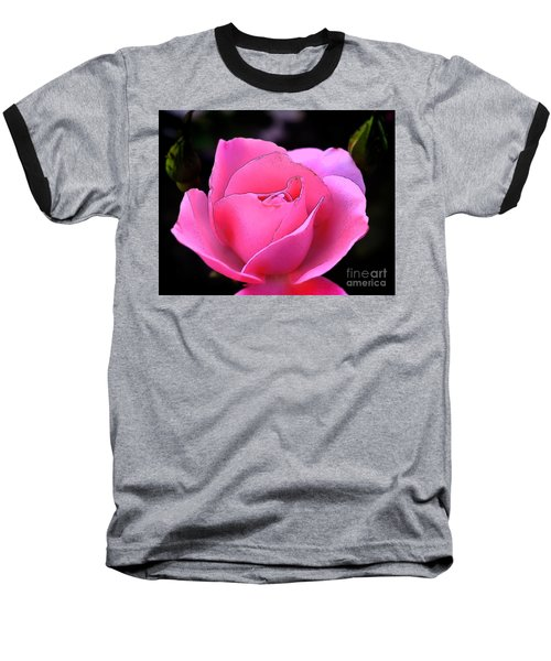 Baseball T-Shirt featuring the photograph Pink Rose Day by Clayton Bruster