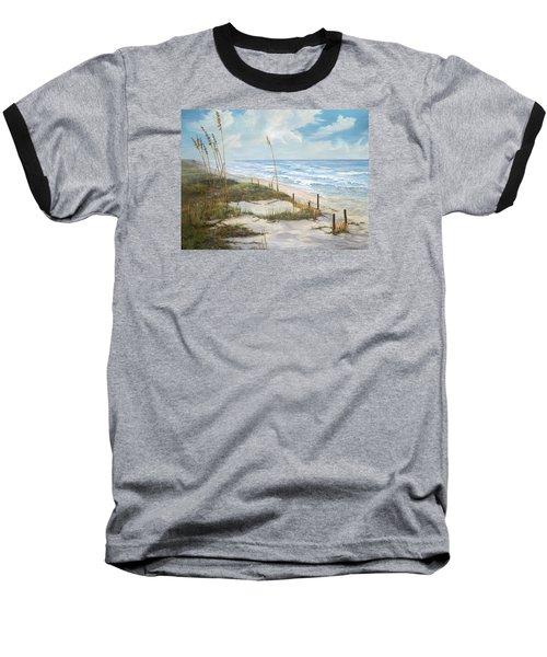 Baseball T-Shirt featuring the painting Playalinda by AnnaJo Vahle