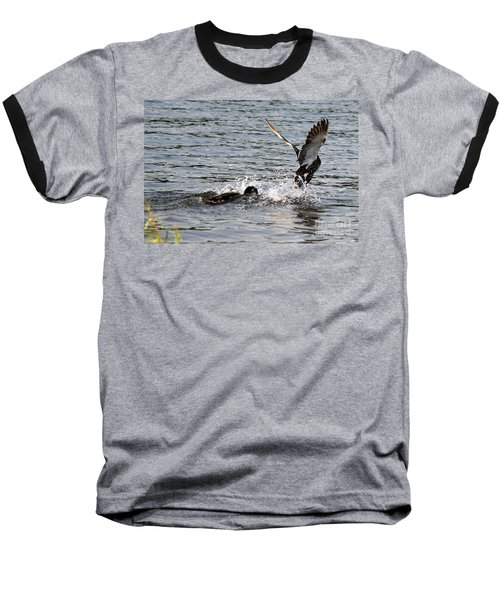 Baseball T-Shirt featuring the photograph Playing Chase by Kathy  White