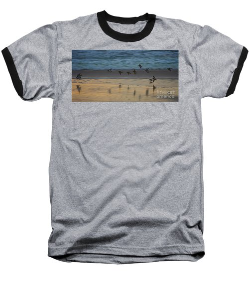 Plovers At Play On A Stormy Morning Baseball T-Shirt