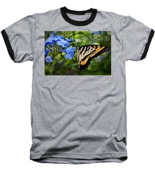 Plumbago And Swallowtail Baseball T-Shirt