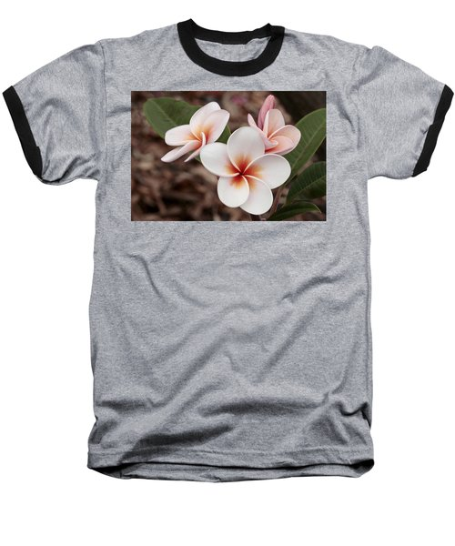 Baseball T-Shirt featuring the photograph Plumeria   Kona Hawii by James Steele