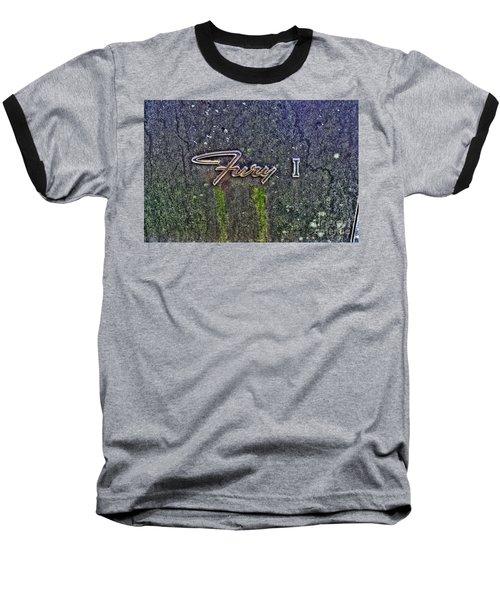 Plymouth Fury Logo Baseball T-Shirt by Dan Stone