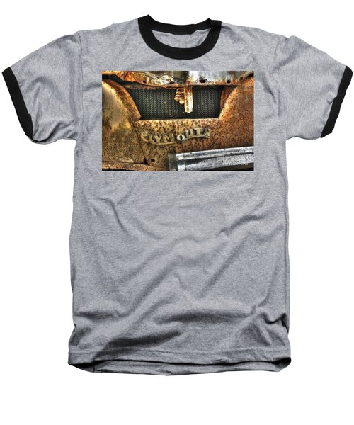 Plymouth Logo Relic Baseball T-Shirt by Dan Stone