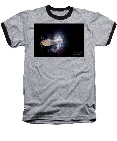 Baseball T-Shirt featuring the photograph Pod In The Wind by Deniece Platt
