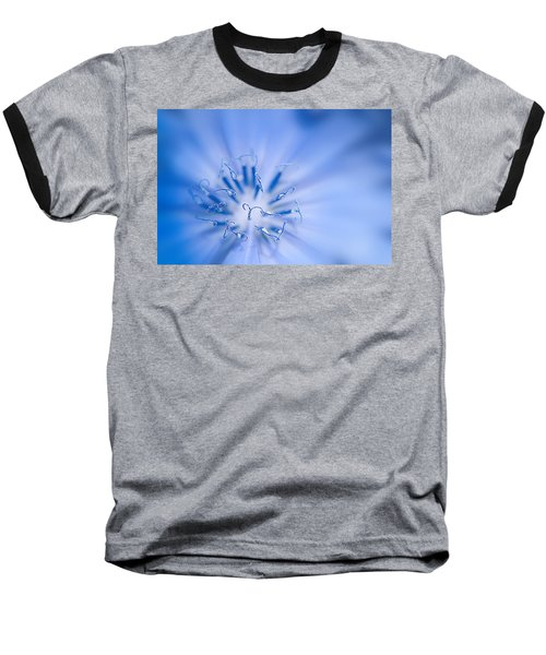 Baseball T-Shirt featuring the photograph Pollination  Blue Chicory by Randall Branham