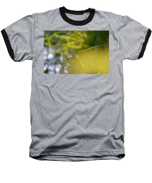 Baseball T-Shirt featuring the photograph Pond-side Perch by JD Grimes