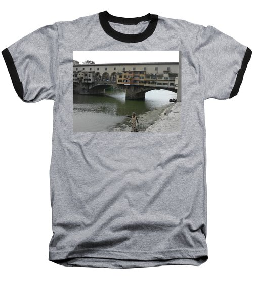 Baseball T-Shirt featuring the photograph Ponte Vecchio by Laurel Best