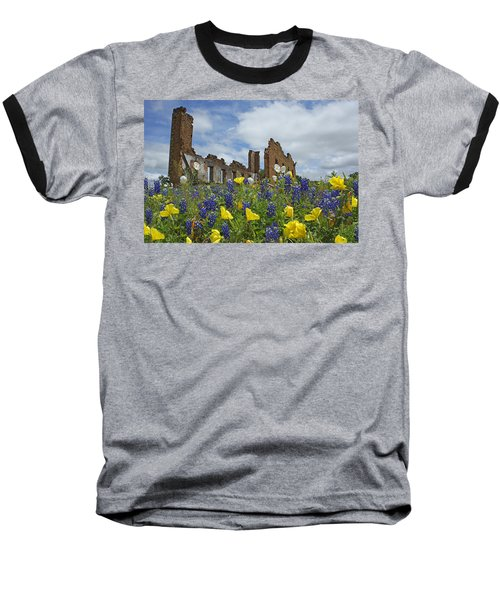 Pontotoc Schoolhouse Baseball T-Shirt by Susan Rovira
