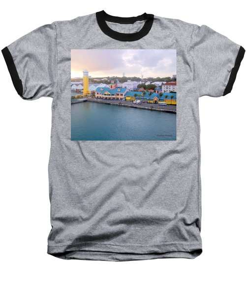 Baseball T-Shirt featuring the photograph Port Of Call by Cynthia Amaral