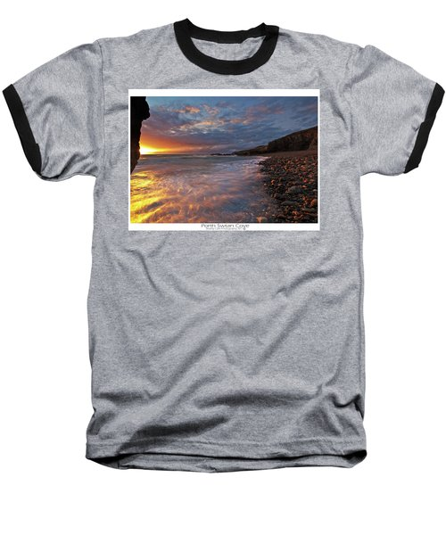 Baseball T-Shirt featuring the photograph Porth Swtan Cove by Beverly Cash