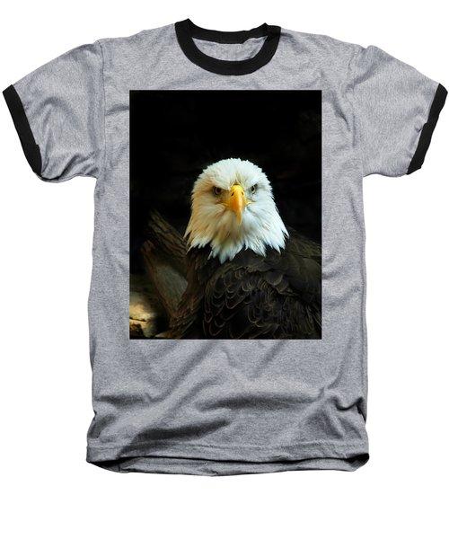 Baseball T-Shirt featuring the photograph Portrait American Bald Eagle by Randall Branham