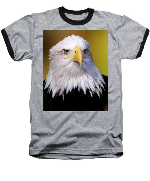 Portrait Of A Bald Eagle Baseball T-Shirt