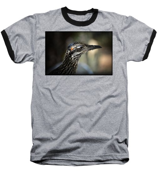 Portrait Of A Roadrunner  Baseball T-Shirt by Saija  Lehtonen