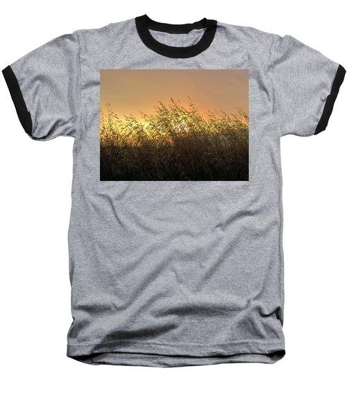 Prairie Dusk Baseball T-Shirt by Leanna Lomanski