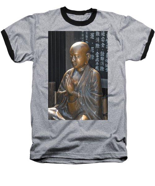 Praying Buddha Baseball T-Shirt