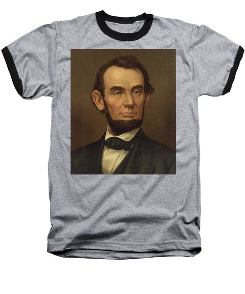 Baseball T-Shirt featuring the photograph President Of The United States Of America - Abraham Lincoln  by International  Images