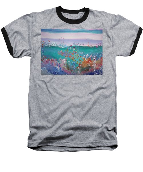 Pretty Garden Baseball T-Shirt by Judith Desrosiers