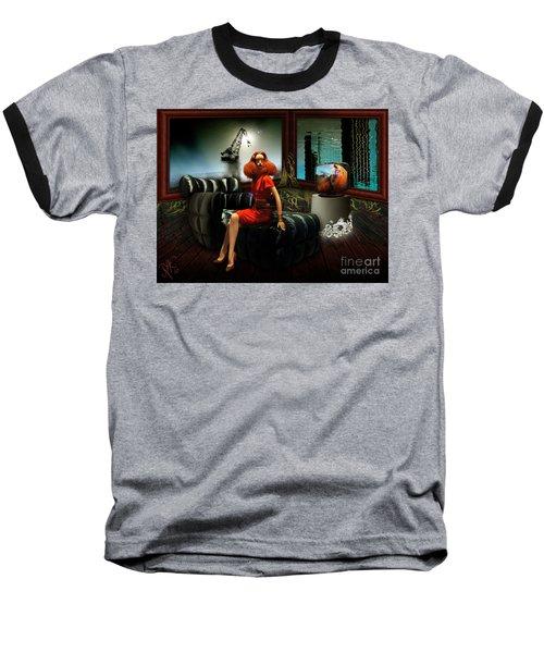 Princess Of The River Baseball T-Shirt by Rosa Cobos