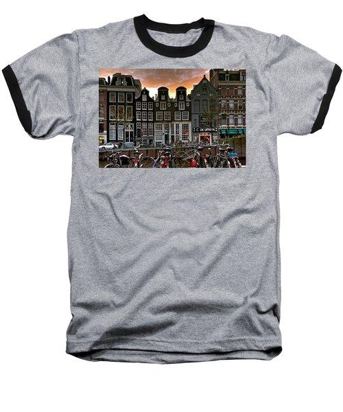 Prinsengracht 458. Amsterdam Baseball T-Shirt