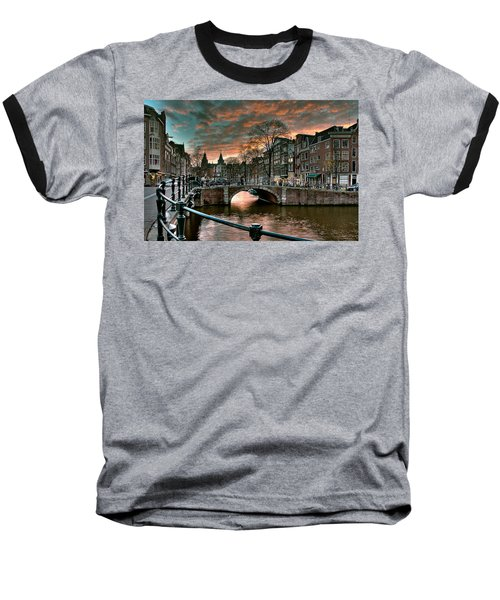 Prinsengracht And Reguliersgracht. Amsterdam Baseball T-Shirt
