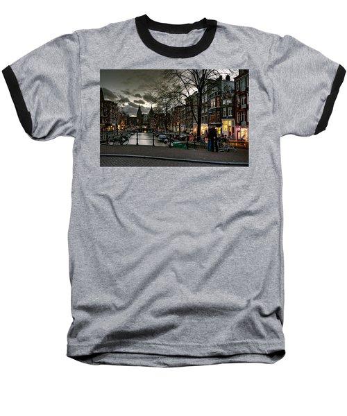 Prinsengracht And Spiegelgracht. Amsterdam Baseball T-Shirt