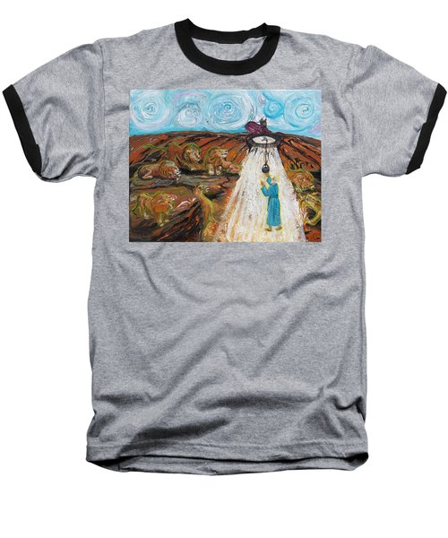 Prophetic Message Sketch 15 Daniel The Lion's Den And The Whirlwind Baseball T-Shirt